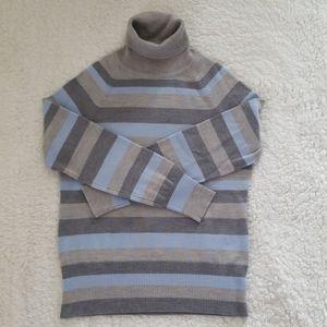 Pendleton Striped Turtleneck Sweater - EUC